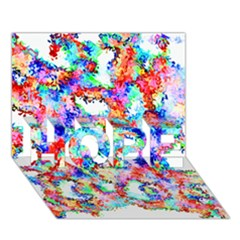 Soul Colour Light HOPE 3D Greeting Card (7x5)