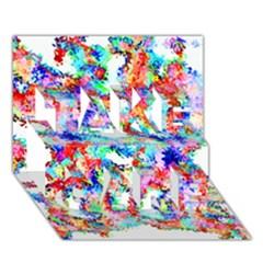 Soul Colour Light Take Care 3d Greeting Card (7x5)