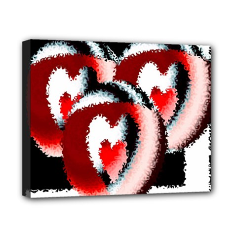 Heart Time 3 Canvas 10  X 8