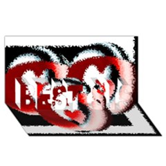 Heart Time 3 BEST SIS 3D Greeting Card (8x4)