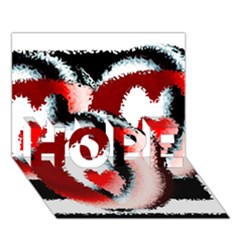 Heart Time 3 Hope 3d Greeting Card (7x5)
