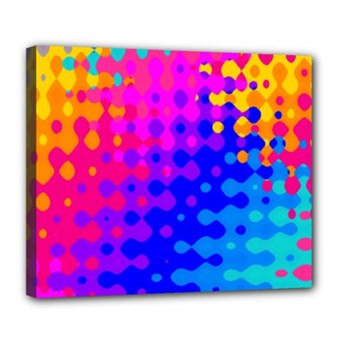 Totally Trippy Hippy Rainbow Deluxe Canvas 24  X 20