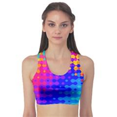Totally Trippy Hippy Rainbow Sports Bra