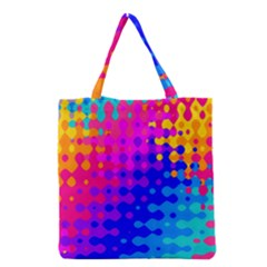 Totally Trippy Hippy Rainbow Grocery Tote Bags