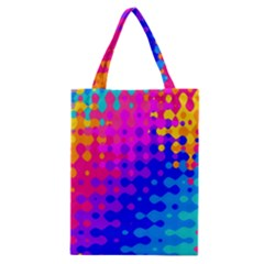 Totally Trippy Hippy Rainbow Classic Tote Bags