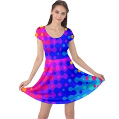 Totally Trippy Hippy Rainbow Cap Sleeve Dresses