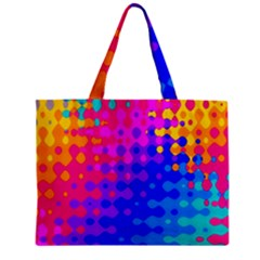 Totally Trippy Hippy Rainbow Zipper Tiny Tote Bags
