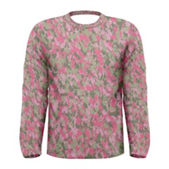 Pinkbunnyflage Men s Long Sleeve T Shirts