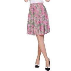 Pinkbunnyflage A-Line Skirts