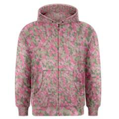 Pinkbunnyflage Men s Zipper Hoodies