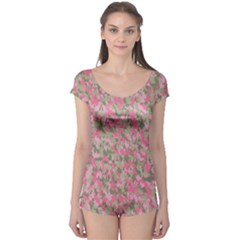 Pinkbunnyflage Short Sleeve Leotard