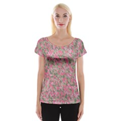 Pinkbunnyflage Women s Cap Sleeve Top