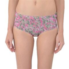 Pinkbunnyflage Mid-Waist Bikini Bottoms