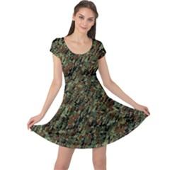 Duckyflage Cap Sleeve Dresses
