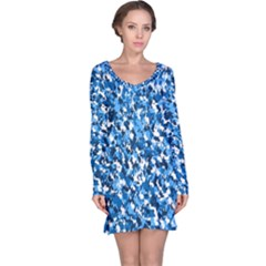 Bluebunnyflage Long Sleeve Nightdresses