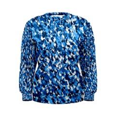 Bluebunnyflage Women s Sweatshirts
