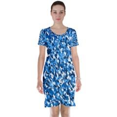 Bluebunnyflage Short Sleeve Nightdresses