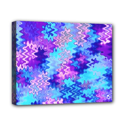 Blue And Purple Marble Waves Canvas 10  X 8