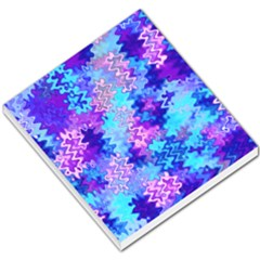 Blue and Purple Marble Waves Small Memo Pads