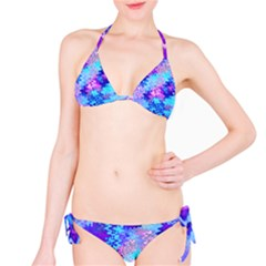 Blue And Purple Marble Waves Bikini Set