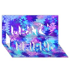 Blue and Purple Marble Waves Best Friends 3D Greeting Card (8x4)