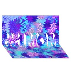 Blue and Purple Marble Waves #1 MOM 3D Greeting Cards (8x4)