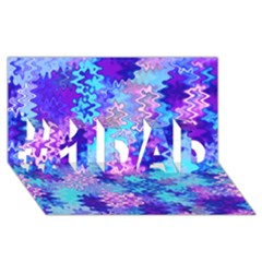 Blue and Purple Marble Waves #1 DAD 3D Greeting Card (8x4)