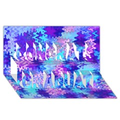 Blue and Purple Marble Waves Congrats Graduate 3D Greeting Card (8x4)