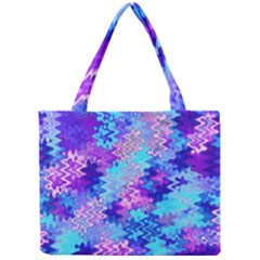 Blue and Purple Marble Waves Tiny Tote Bags