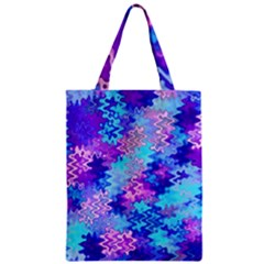Blue and Purple Marble Waves Classic Tote Bags