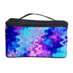 Blue And Purple Marble Waves Cosmetic Storage Cases