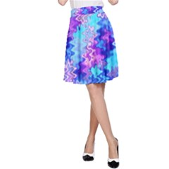 Blue and Purple Marble Waves A-Line Skirts
