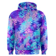 Blue And Purple Marble Waves Men s Pullover Hoodies