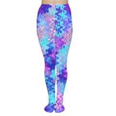 Blue and Purple Marble Waves Women s Tights