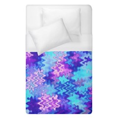 Blue And Purple Marble Waves Duvet Cover Single Side (single Size)
