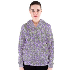 Purplebunnyflage Women s Zipper Hoodies