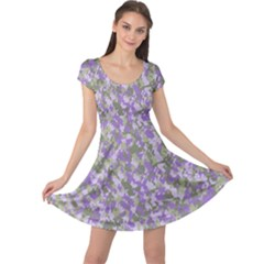 Purplebunnyflage Cap Sleeve Dresses