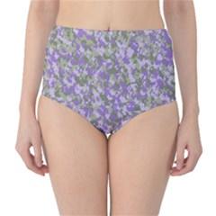 Purplebunnyflage High-Waist Bikini Bottoms