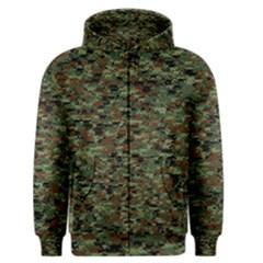 Kittyflage Men s Zipper Hoodies