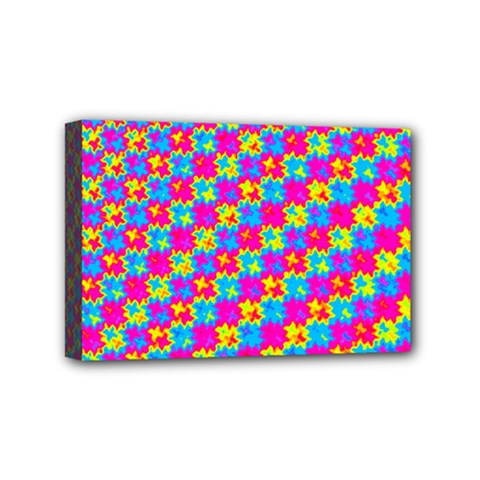 Crazy Yellow And Pink Pattern Mini Canvas 6  X 4