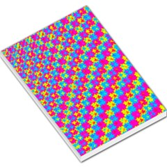 Crazy Yellow And Pink Pattern Large Memo Pads
