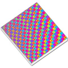 Crazy Yellow and Pink Pattern Small Memo Pads