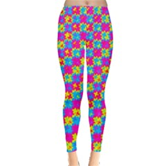 Crazy Yellow And Pink Pattern Women s Leggings