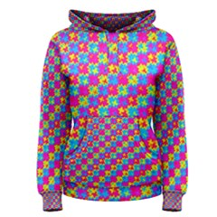 Crazy Yellow and Pink Pattern Women s Pullover Hoodies