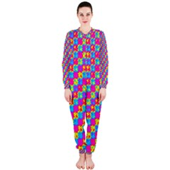 Crazy Yellow and Pink Pattern OnePiece Jumpsuit (Ladies)