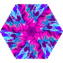 Stormy Pink Purple Teal Artwork Mini Folding Umbrellas