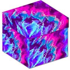 Stormy Pink Purple Teal Artwork Storage Stool 12