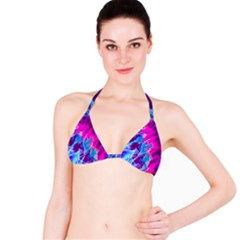 Stormy Pink Purple Teal Artwork Bikini Tops