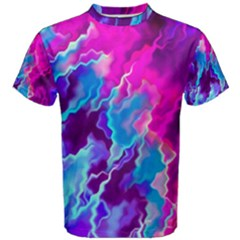 Stormy Pink Purple Teal Artwork Men s Cotton Tees