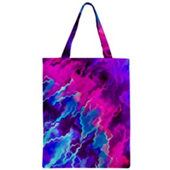 Stormy Pink Purple Teal Artwork Classic Tote Bags